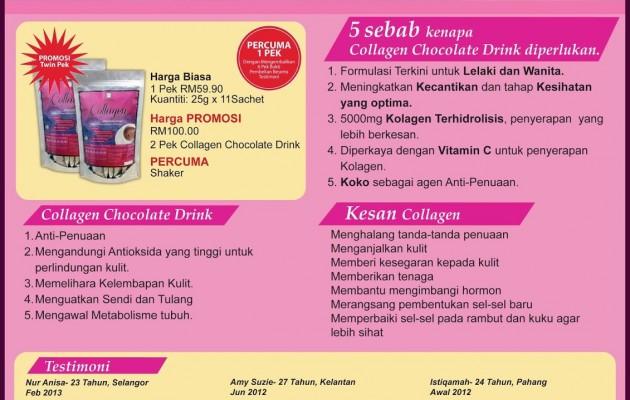 5 Perkara Penting Berkenaan Collagen Chocolate Drink 5000mg + Vitamin C